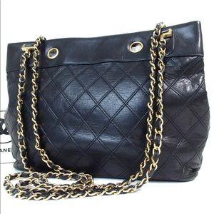 authentic CHANEL Bicolore Chain Shoulder Bag